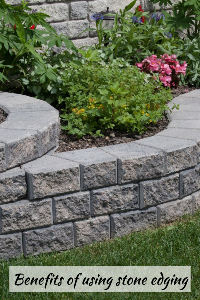 Benefits of using stone edging in the exterior landscaping ideas