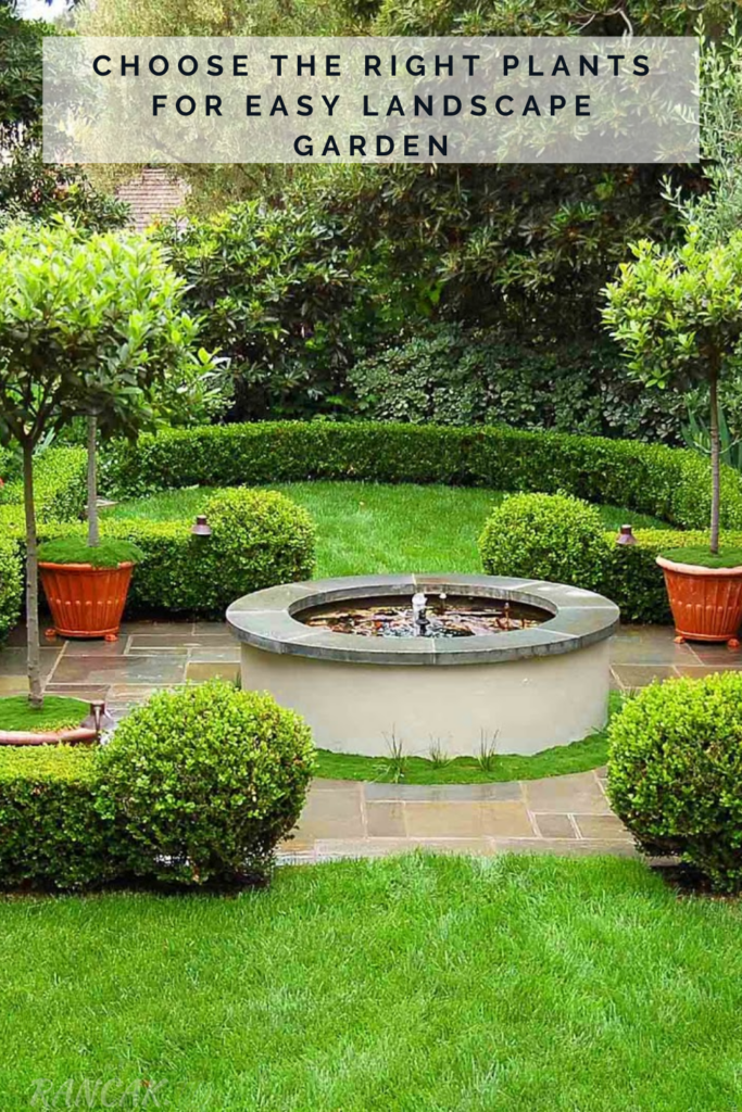 Choose The Right Plants For Easy Landscape Garden