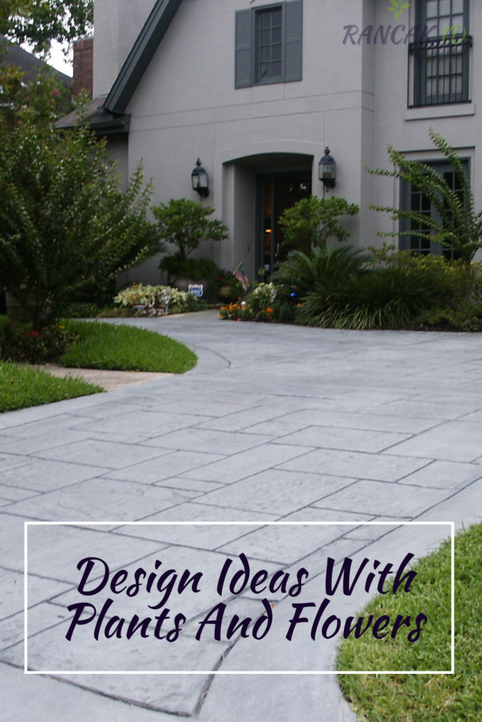 Concrete Walkway Design Ideas With Plants And Flowers
