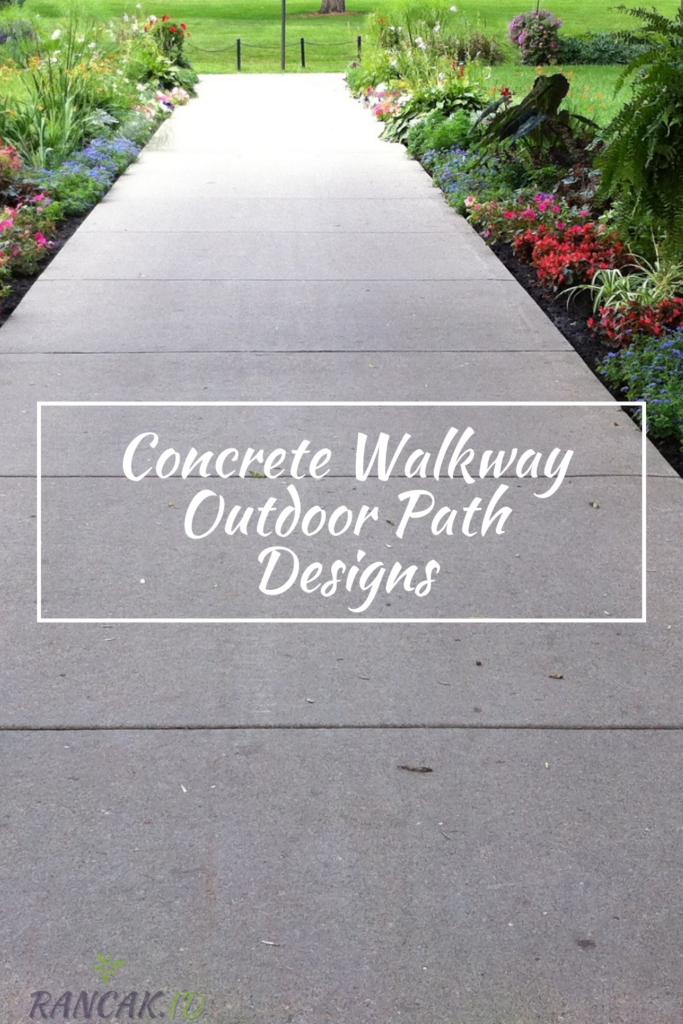 Concrete Walkway Outdoor Path Designs For The Front Of Your Home