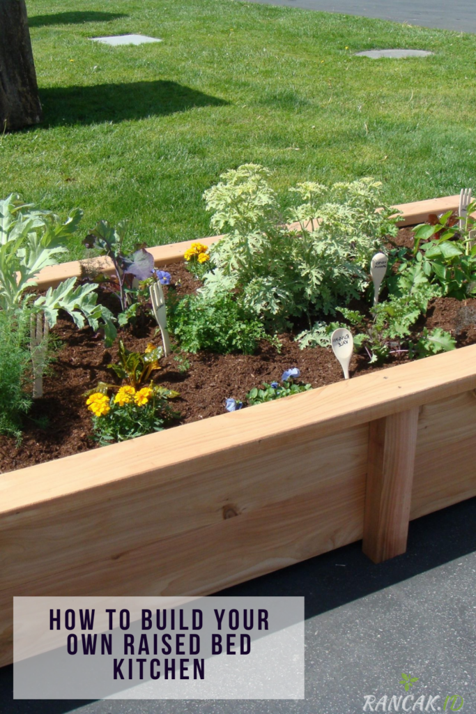 How to build your own raised bed kitchen garden design