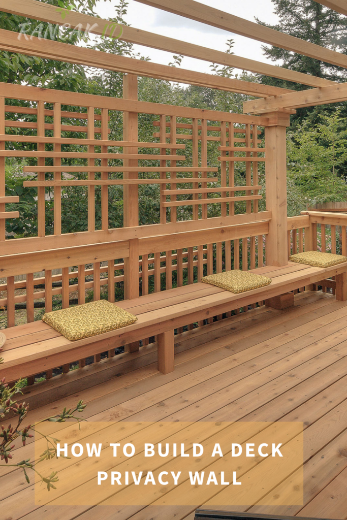 How To Build A Deck Privacy Wall
