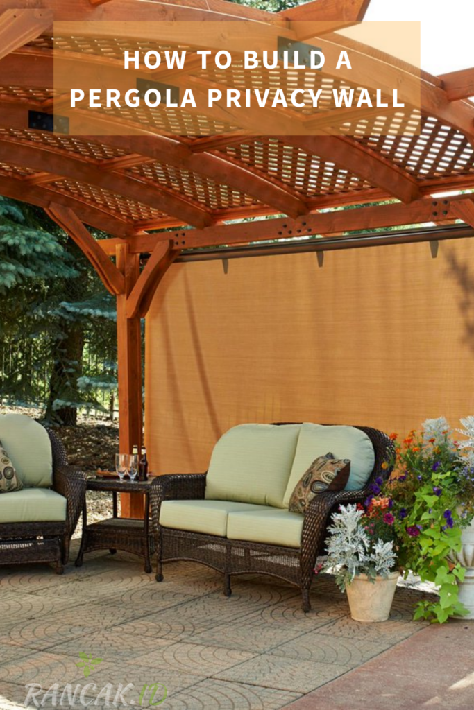 How To Build A Pergola Privacy Wall