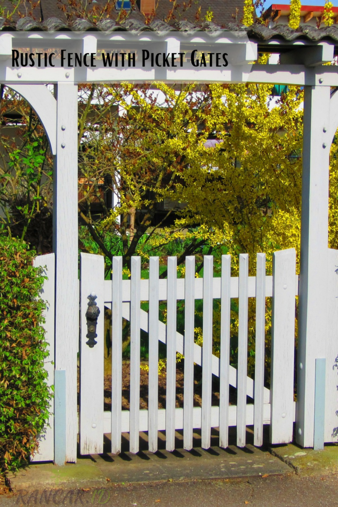 How to Build a Rustic Fence with Picket Gates