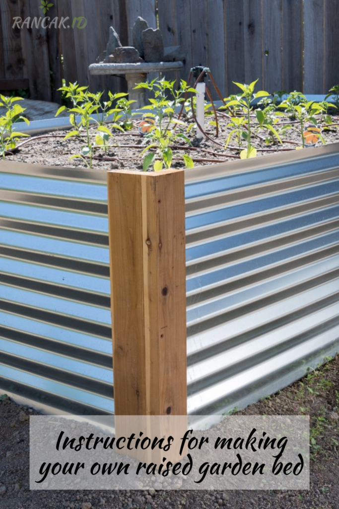 Instructions for making your own raised garden bed