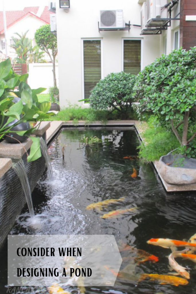 What to consider when designing a pond